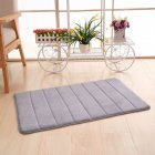 40X60CM Slow Rising Memory Foam Anti-slip Bathroom Mat Thicken Kitchen Bedroom Shower Carpet  Silver gray_40X60CM