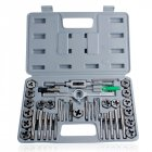 40pcs Tap Die Set Hand Thread Plug Taps Handle Alloy Steel Inch Threading Tool with Case 40 pieces / set of tools
