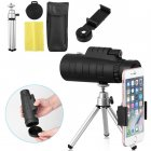 40x60 Portable HD Optical Monocular Telescope Day/Night Vision+Phone Clip+Tripod As shown