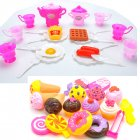 41pcs box Simulation Dessert Set Kitchen Toy Gift for Kid Boys Girls Children Play House  41 piece set