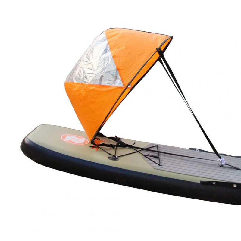 42 inch Foldable Boat Lightweight Wind Sail Sup Paddle Board Sail with Clear Window Drifting Accessory As shown