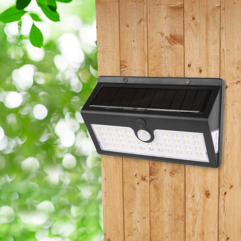 44 LED Human Body Induction Lamp Garden Outdoor Hallway Solar Power Light White light