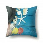 45*45cm Beach Vacation Style Sea Shell Deck Pillowcase Sofa Office Home Decor  CCA432(6)