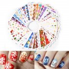 45 Pcs/set Christmas Water Transfer Nail Sticker Decals Manicure DIY Nail Art Stickers