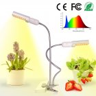 45W Full Spectrum Plant Grow Light with Dual Head Clip