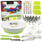46Pcs/Pack Cake Decorating Kit Cake Turntable Set Plastic Baking Tool Cake DIY 46pcs/set