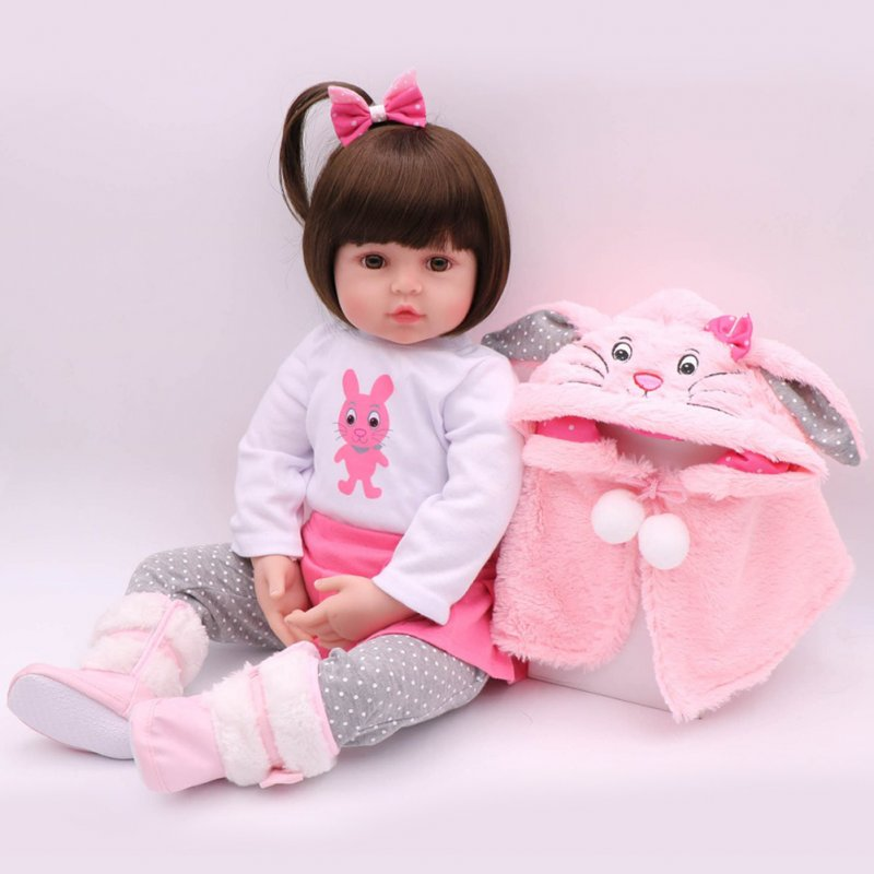 47CM Silicone Reborn Super Baby Lifelike Toddler Baby Bonecas Kid Doll Bebes Reborn Toys for Kids Gifts