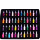 48 Bottles DIY 3D Crystal Nail Art Powder Sequins Glitter Manicure Tips Set Beauty Random Style