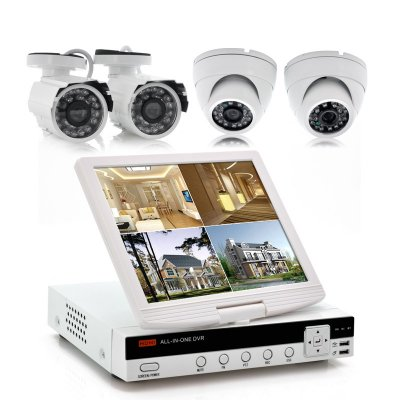 4CH DVR Kit with 10 Inch Screen - Securitex