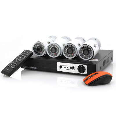 4CH Security DVR Kit w/ x4 Camera - Blizzard