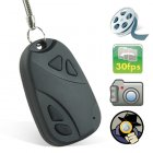 4GB DVR Digital Video Recorder  Camera in a keychain car remote style casing  Coming in a compact form factor and presented in raven black  this discrete