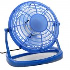 4Inches Mini 360 Degree USB Mute Low Voltage Fan blue_16*10*16