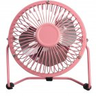 4Inches Mute Cartoon Pattern Iron USB Fan  pink