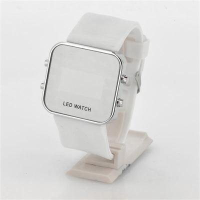 Mirror LED Watch with Rubber Strap