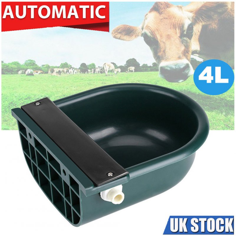 4L Automatic Water Bowl Float-ball Type Water Feeder Water Dispenser for Sheep Dog Horse Cow Dog Sheep Goat  Dark green