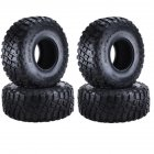 4PCS 2.2in Rubber Tyre Wheel Tires for 1:10 RC Rock Crawler Axial SCX10 SCX10 II 90046 90047 TAMIYA TRX-4 TRX4 120*48MM  A set of 4PCS