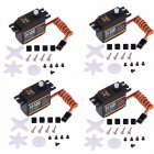 4PCS EMAX ES3001 Standard 43g Servo For RC Helicopter Boat Airplane black