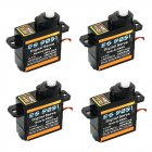 4PCS EMAX ES9051 4.3g Digital Mini Servo Motor Plastic Gear 0.8kg Torque for 3D F3P Airplanes black
