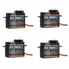 4PCS Emax ES9251Ⅱ Upgrade Version 2.5g Plastic Micro Digital Servo For RC Model black