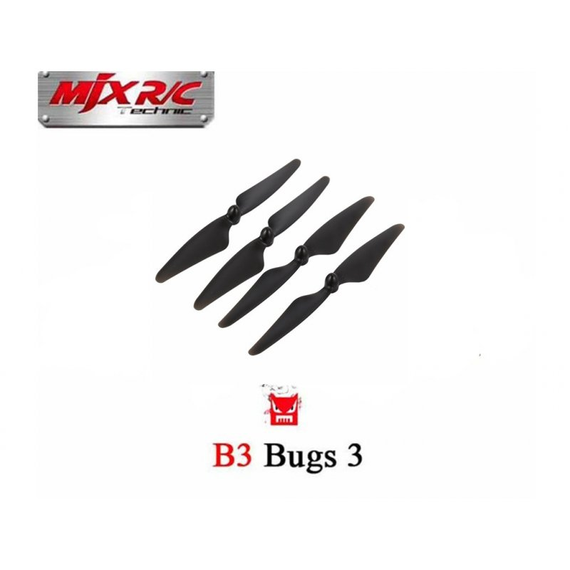 4PCS Propellers Blades for MJX B3 Rc Quadcopter Drone ( MJX Bugs 3 ) Spare Parts Accessories