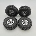 4PCS RC Car Tires Wheels Rims for HB Toys ZP1001 1/10 RC Vehicles Spare Parts Silver_4PCS
