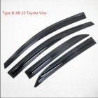 4PCS  Sun Rain Visor Window Shield Deflector For Toyota Vios Sedan Models 08-13