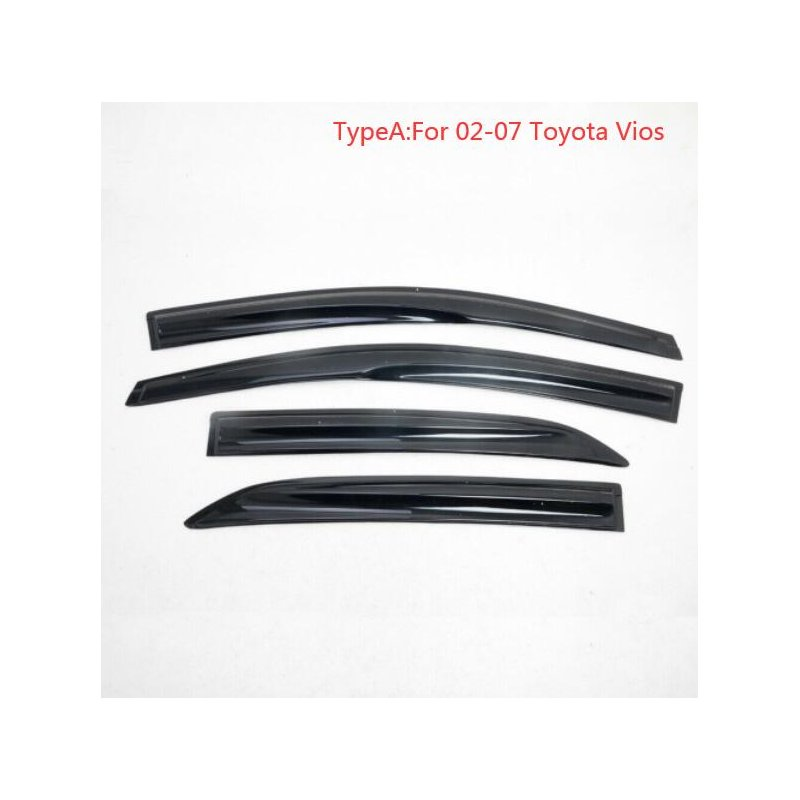 4PCS  Sun Rain Visor Window Shield Deflector For Toyota Vios Sedan Model 02-07