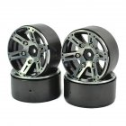 4PCS1/10 RC Car 1.9 Inches Alloy Wheel Hubs Imitation Wheel Boss Accessory for HSP 94180 SCX10 D90 black