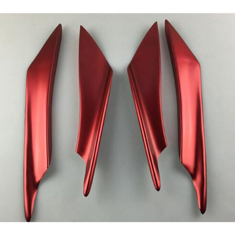 4Pcs Car Front Bumper Canard Lip Splitter Fin Body Spoiler Universal Modified Decoration  red