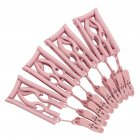 4Pcs Portable Folding Drying Rack Multifunctional Retractable Clothes Hanger with Clips Nordic pink