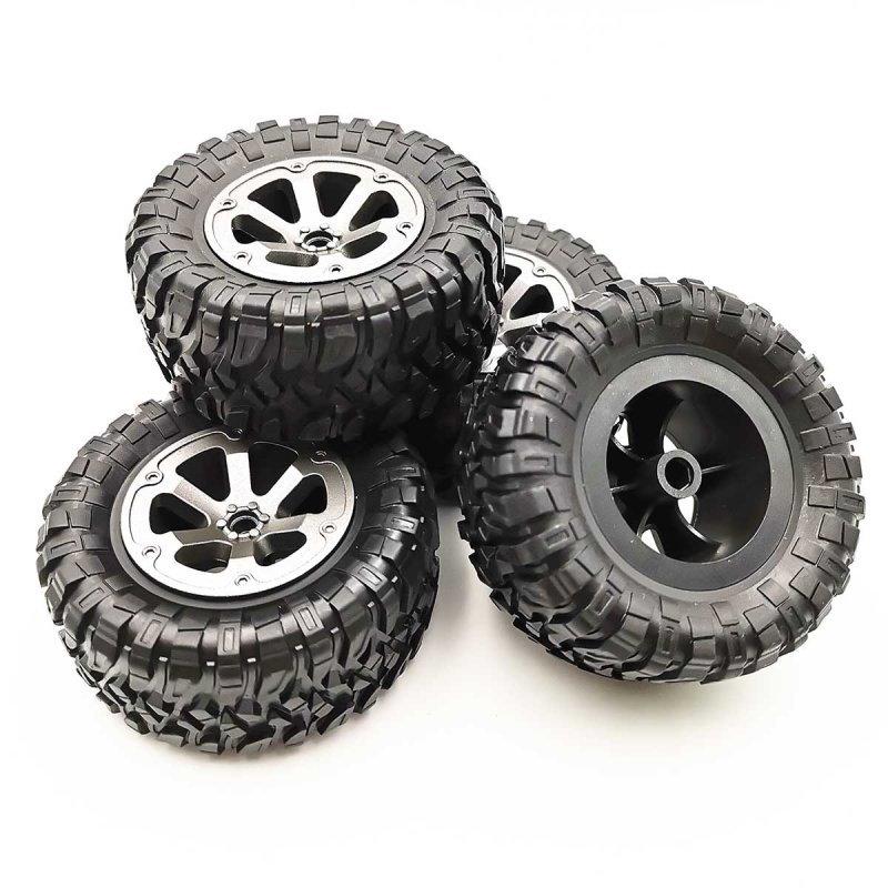 4Pcs RC Car Tires Wheels Rims Set for WPL B-36 B-14 B-24 B-16 C-14 C-24 FY Remote Climbing Series Replacement Parts 4pcs