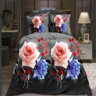 4Pcs/Set 3D Printed Duvet Cover Bed Sheet Pillowcase Set for Home Bedroom 2*2.3m
