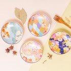4Pcs/Set 4.8Inches Cherry Blossom Pattern Series Ceramic Dish Set
