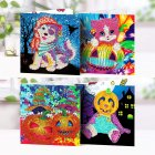 4Pcs/Set Halloween Series Diamond Painting Adults Kids Greeting Card 4 pcs / set