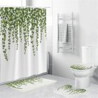 4Pcs/Set Shower Curtain 180*180cm Non-Slip Rug Toilet Lid Cover Bath Mat for Bathroom yul-2168