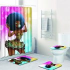 Shower Curtain, Toilet Pad, Cover, Bath Mat