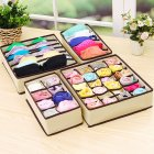 4Pcs Solid Color Storage Box for Home Underwear Bra Socks Organize