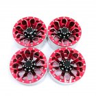 4Pcs/set 1.9in Alloy Wheel Rim Beadlock Simulation RC Car Part for 1:10 D90 4WD SCX10 TRX4 red