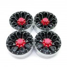 4Pcs/set 1.9in Alloy Wheel Rim Beadlock Simulation RC Car Part for 1:10 D90 4WD SCX10 TRX4 black