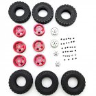 4X4 Rear Double RC Car Wheel for 1/16 WPL B14 B24 JJRC Q61 Truck Vehicle Models Black red