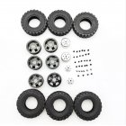 4X4 Rear Double RC Car Wheel for 1/16 WPL B14 B24 JJRC Q61 Truck Vehicle Models Black Titanium
