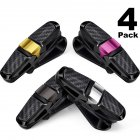 4pcs ABS Glasses Holders for Car Sun Visor Sunglasses Holder Clip Hanger Eyeglasses Mount