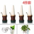 4pcs Automatic Drip Irrigation Kit Ceramics +PP Vacation Plant Waterer 4 piece set