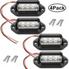 4pcs Automobile Waterproof License Plate Lamp 12V 6LED License Light 4pcs