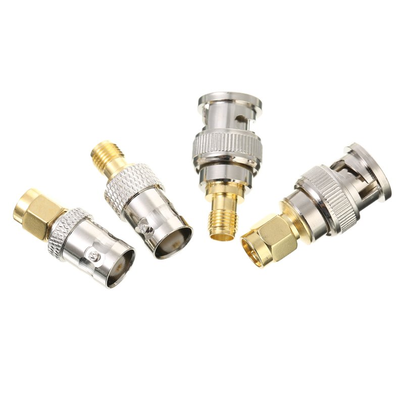 4pcs BNC to SMA Connectors Type Male Female RF Connector Adapter Test Converter Kit Set
