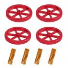 4pcs Creality Aluminum Hand Leveling Nut with 4pcs Hot Bed Die Springs for Ender 3/3 Pro Ender 5/5 Plus/Pro CR-10 CR10S/10S Pro CR 20 3D Printer red