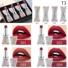 4pcs Crystal Rhinestone Bow Lipstick Makeup Lipstick Set Long Lasting Moist Non-stick Cup Makeup Gift 03#