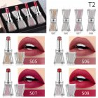 4pcs Crystal Rhinestone Bow Lipstick Makeup Lipstick Set Long Lasting Moist Non-stick Cup Makeup Gift 02#