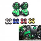 4pcs Frame Hole Cap Cover Plug Low & Up for KAWASAKI NINJA250/300 350 green