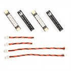 4pcs Matek System 2812ARM-4 5V WS2812 LED Strip RC Night Light w/ 4 Lamps for RC Drone FPV Racing